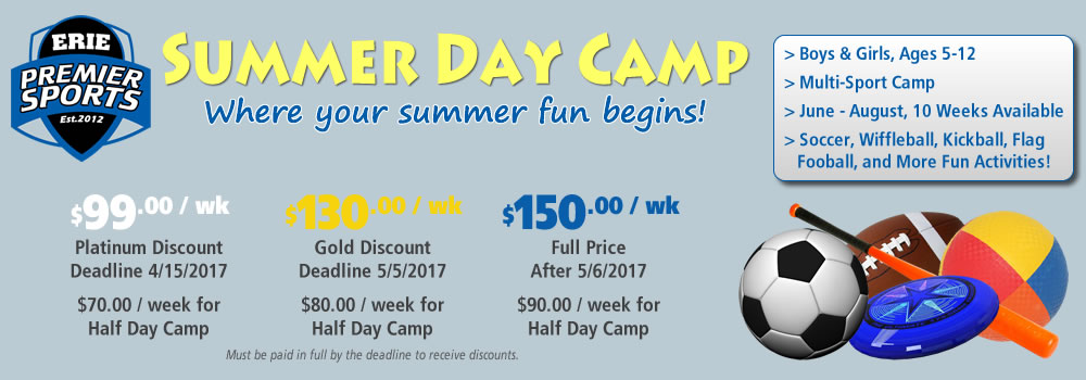 Summer Day Camp | Erie Premier Sports