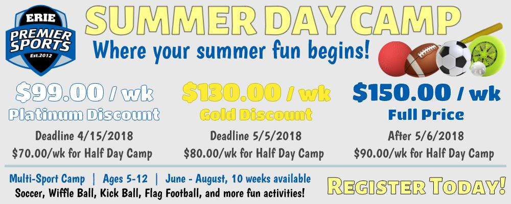 Erie Premier Sports Multi-Sport Summer Day Camp