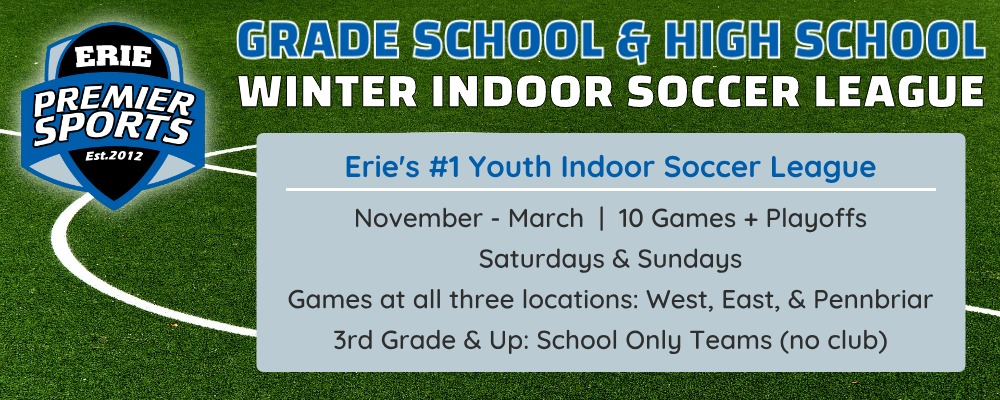 Erie Premier Sports | Youth Indoor Soccer League