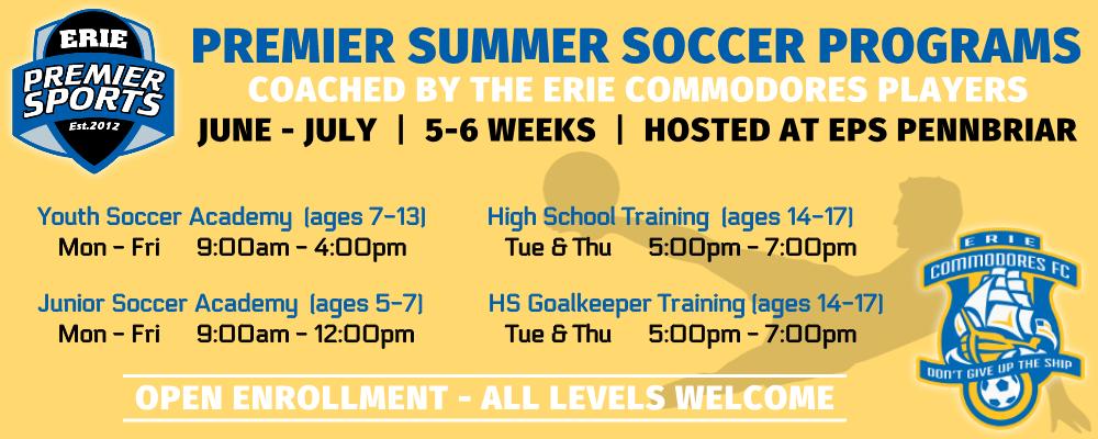 Erie Premier Sports | Premier Summer Soccer Program