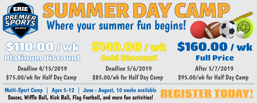 Erie Premier Sports | Summer Day Camp