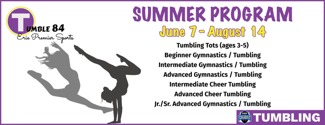 Erie Premier Sports | Tumbling & Gymnastics - Summer Program